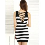 Stylish Wavy Cut Back Lace Up Dress For Women for sale