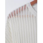 Casual Pure ColorHollowOut Knitwear deal