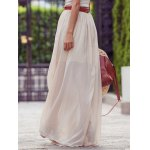 cheap Stylish Solid Color Maxi Skirt For Women