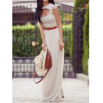 Stylish Solid Color Maxi Skirt For Women deal