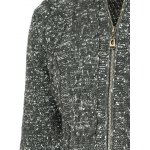 Heathered Braid Zip Up Long Sleeve Cardigan For Men deal