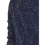 Heathered Geometric Pattern Crew Neck Long Sleeve Sweater For Men deal