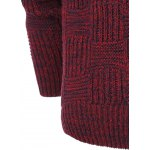 Ribbed Plaid Pattern Crew Neck Long Sleeve Sweater For Men deal