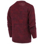 cheap Ribbed Plaid Pattern Crew Neck Long Sleeve Sweater For Men