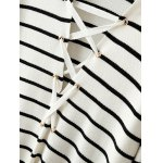 Back Lace-Up Striped Sweater deal