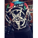 Pentacle 3D Printed Round Neck Long Sleeve T-Shirt For Men for sale