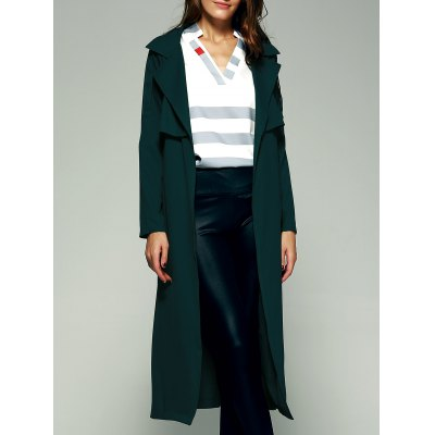 Flounce Pure Long Trench Coat