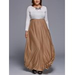 Chic Long Sleeve Plus Size Maxi Dress deal