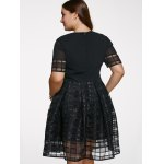 best Chic Short Sleeve Plus Size See-Through Dress