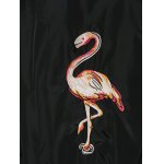 Vintage Flamingo Animal Embroidered Baseball Jacket photo