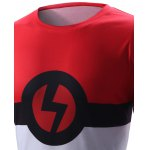 Lightning Sign Design Round Neck Short Sleeve T-Shirt For Men deal