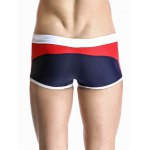 Casual Color Block Drawstring Waistband Design Swimming Trunks For Men for sale