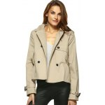 Vintage Double-Breasted Turn Down Collar Loose Trench Jacket deal