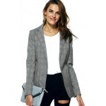 cheap Vintage Lapel Pocket Slimming Houndstooth Blazer