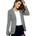 Vintage Lapel Pocket Slimming Houndstooth Blazer deal