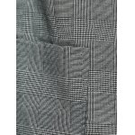 Vintage Lapel Pocket Slimming Houndstooth Blazer photo