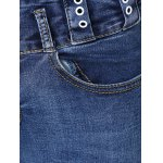 Button Design Mid-Waist Skinny Jeans photo