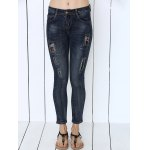 cheap Icons Embellished Dark Color Jeans