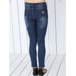 best Stylish Letter Print Ripped Jeans