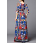 Colorful Geometric Evening Dress for sale
