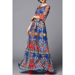 Colorful Geometric Evening Dress deal