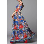 cheap Colorful Geometric Evening Dress