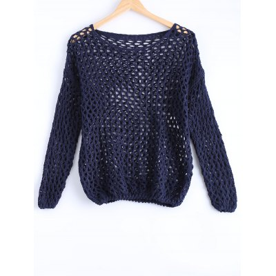 Hollow Out Loose Knitted Top