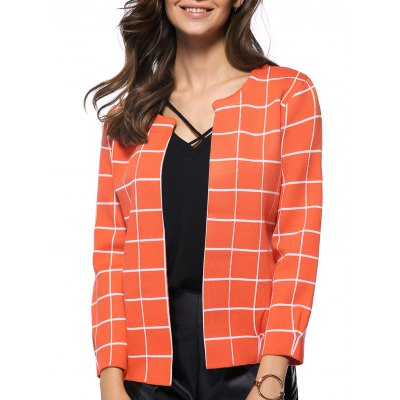 Women's Preppy Style Plaid All-Matched Jacket