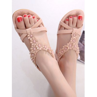 Ladylike Flowers and T Bar Design Sandals For Women