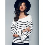 Back Lace-Up Striped Sweater photo