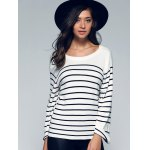 best Back Lace-Up Striped Sweater