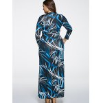 Oversized Abstract Print Maxi Dress deal