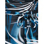 Oversized Abstract Print Maxi Dress for sale