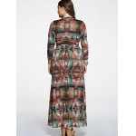 Oversized High Waist Abstract PrintDress for sale