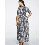 Oversized Half Sleeves Printed Pleated Dress deal