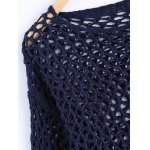 Simple Women's Hollow Out Loose Knitted Top for sale