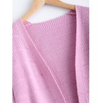 Simple Women's Front Pockets Pure Color Collarless Cardigan deal