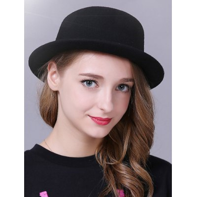 Stylish Braid Decorated Bowler Hat