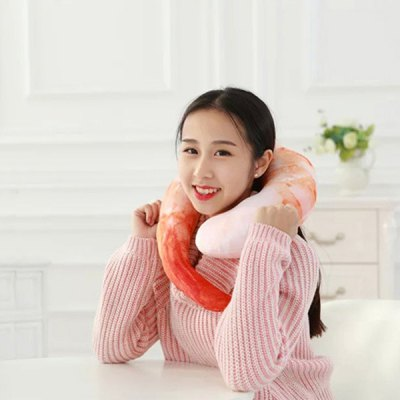 Shrimp Meat Neck U-Shape Pillow Headrest For Soft Fit Nursing