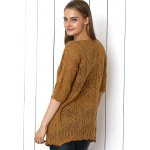 cheap Crochet Candy Color Hollow Out Cardigan