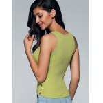 Chic Sleeveless Buttoned Skinny Slimming Women's Knitwear for sale