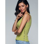Chic Sleeveless Buttoned Skinny Slimming Women's Knitwear deal