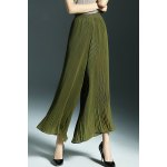 Simple Style Back Zip Wide Leg Pants deal