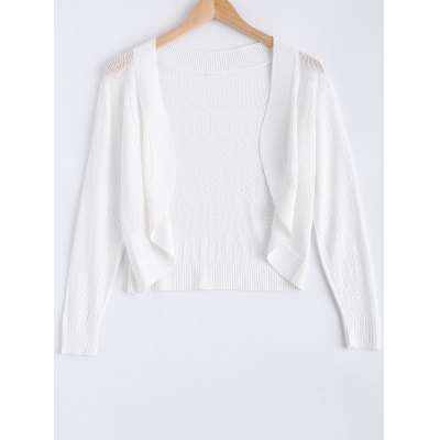 Long Sleeve Ribbed Cardigan For Women