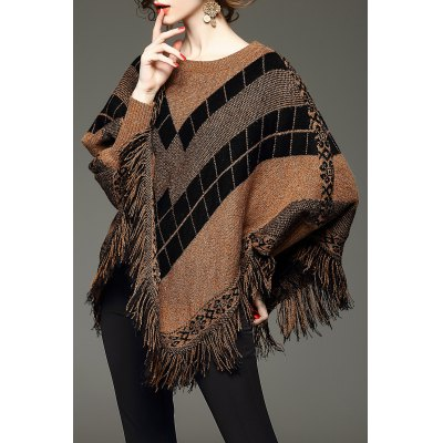 Batwing Fringed Sweater