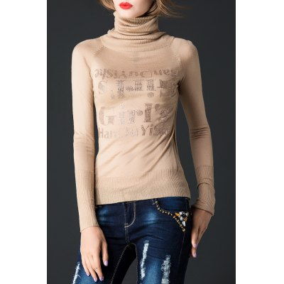 Hot Drilling Turtleneck Pullover Knitwear