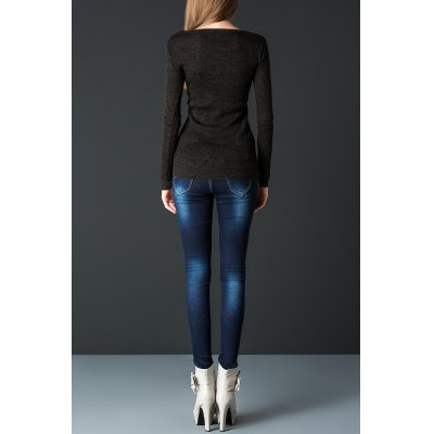 Ruched Pullover Wool Knitwear