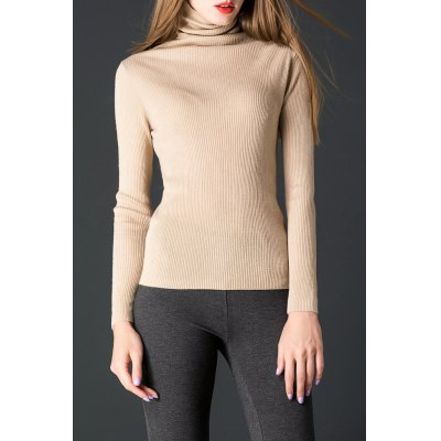 Ruched Turtleneck Knitwear