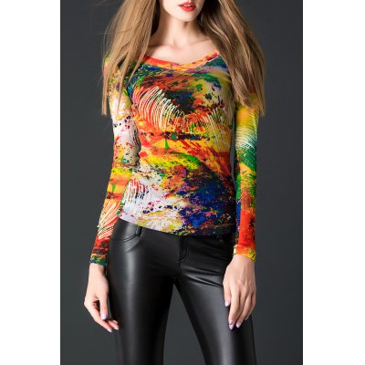 Tie-Dyed Multicolor Pullover Tee
