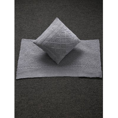 Warm Comfortable Rhombus Knitted Pillow Case and Blanket